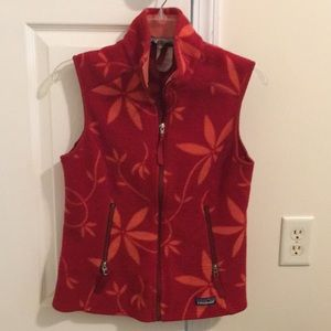 Patagonia Synchilla Print fleece vest Medium